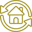 house recycle icon